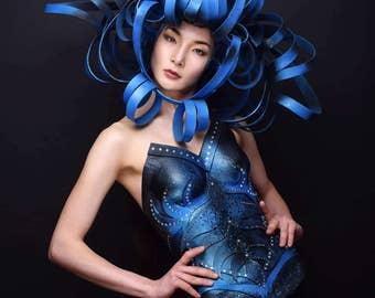 """Futuristic Headdress - SFX - Cyborg - """"Fraise au Loup"""" Studio - Futuristic"""