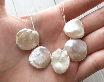 Keshi Pearl, Freshwater Pearls, AAA Quality, High Luster Cornflake Pearls Freshwater Pearl Beads, Keishi Pearls, Top Drilled Pearls, Wedding