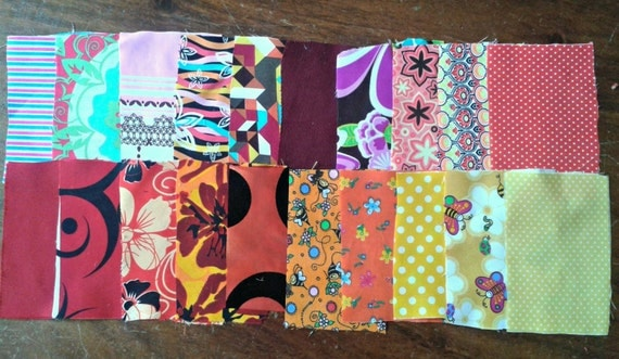 Print Fabric Scraps Colorful Various Prints Quilting