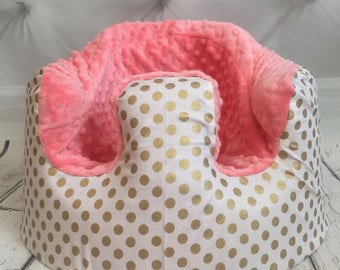 Metallic Gold Dot & Coral Bumbo Cover