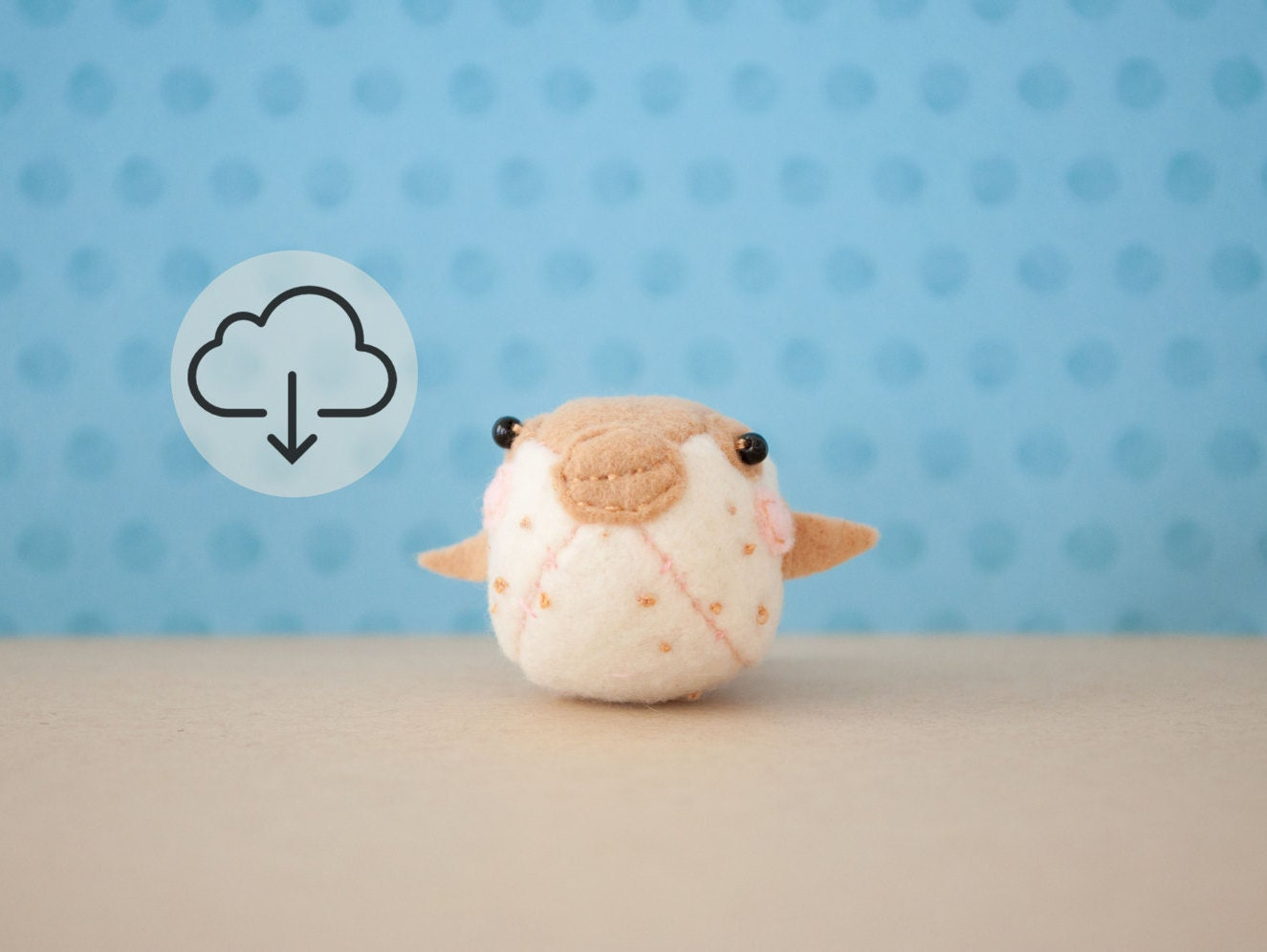 Po the baby pufferfish pattern instant download pdf stuffed for Puffer fish stuffed animal
