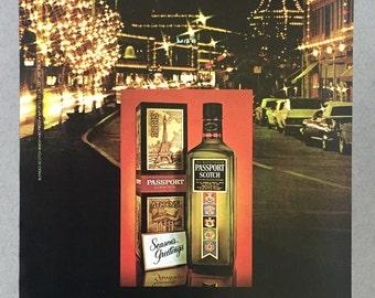 1980 Passport Scotch Print Ad
