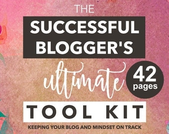 Blog Planner - Business Planner - Mindset Worksheets - Blogging Checklists - How to Start a Blog - Business Tool Kit