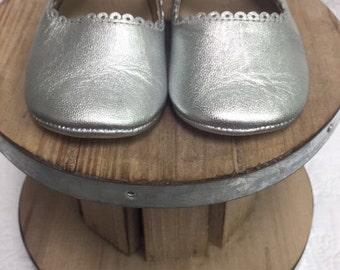 Elephantito Mary Jane Silver Shoes