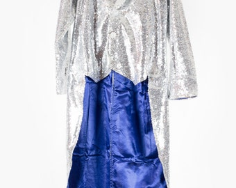 Men's Silver Sequin Tailcoat