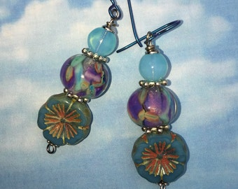 High in the Sky Blue Beauty earrings