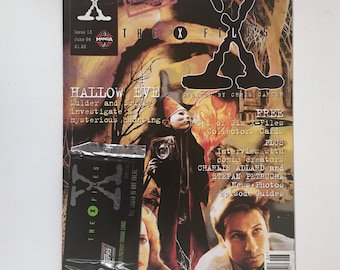 X-Files Magazine, Issue 13, with Topps Trading Cards, Episode Guide, England, Truth is Out There, UK Vintage Magazine, Hallow Eve, Mint