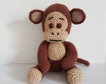 Monkey Toy, Crochet Monkey, Crochet Animal Toy, Toy Monkey, Handmade Monkey, Amigurumi Monkey - MADE TO ORDER
