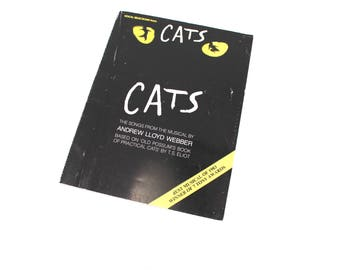 """Vintage 1980s """"Cats"""" vocal selections book - music, piano, audition songs, Broadway musicals, Andrew Lloyd Webber, """"Memory"""""""