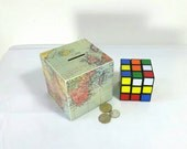 Travel Money Box, Adventure Fund, Piggy Bank, Travel Gift, World Map, Wooden Money Box, Holiday Funds Box, Adventure Holidays, Map Money Box
