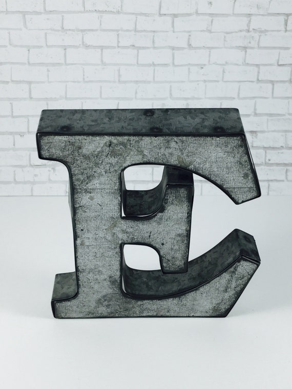 Metal Wall Decor Clearance : Clearance a z metal letters wall decor galvanized