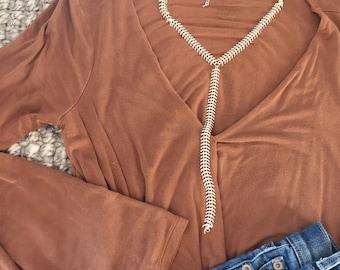 Silver Fishbone Y Necklace, Silver Y Necklace, Fishbone Necklace, Y Necklace, Fishbone Chain