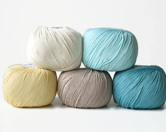 DMC Natura Just Cotton, a set of 5 skeins, amigurumi yarn, crochet yarn, knitting yarn, cotton yarn, knitting thread, crochet thread