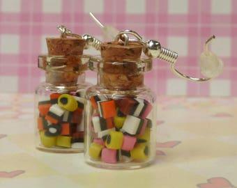 English Liquorice Jar Earrings