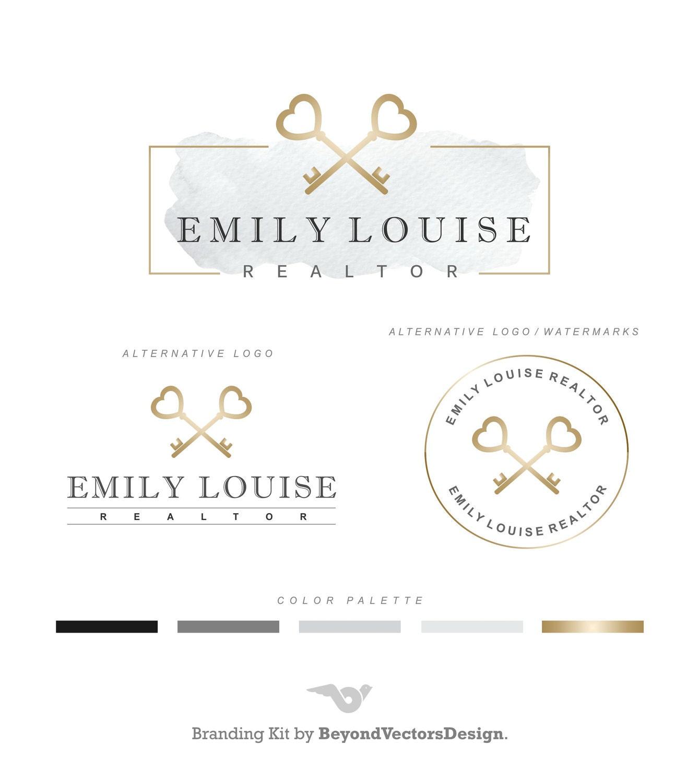 Realtor logo key logo real estate logo design branding set zoom magicingreecefo Choice Image