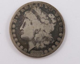 U.S. 1883 S Morgan Silver Dollar Coin.