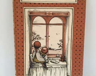 vintage Joan Walsh Anglund Look Out the Window book, Harcourt, Brace & World, 1959, hardback with dust cover
