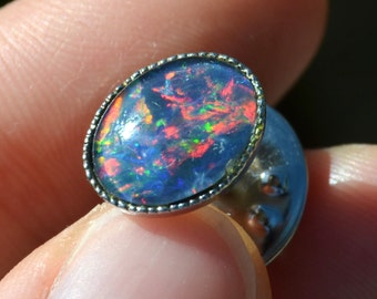 Vintage Genuine Australian Triple Opal Pin Badge Brooch