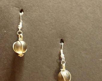 Brown circle ball with Silver Fishhook