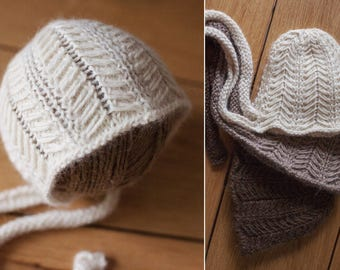 Herringbone Newborn Bonnet