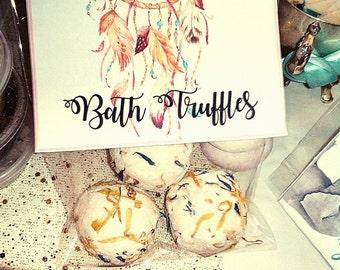 Bath Bomb Bath Truffles - Cocoa Butter Bath Truffles- Vegan Christmas Gift - Luxury - Skin Nourishing - Lemongrass - Gift for Women