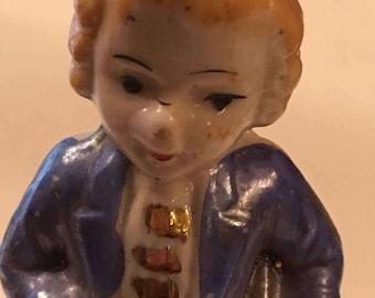 Vintage Lefton Blue Boy Figurine, Vintage Figurine, Farmhouse Decor