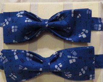 Blue Strokes Bow Tie