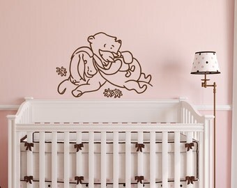 Winnie The Pooh Wall Decal Kids  Classic Winnie The Pooh Piglet Tigger Wall  Decals Nursery Part 36