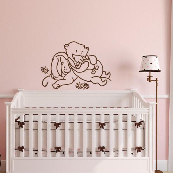 Winnie the pooh wall decal kids classic winnie the pooh for Classic pooh wall mural