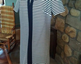 Nautical Striped Honeycomb Dress