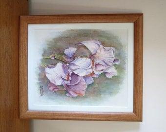 Iris - Original watercolor painting