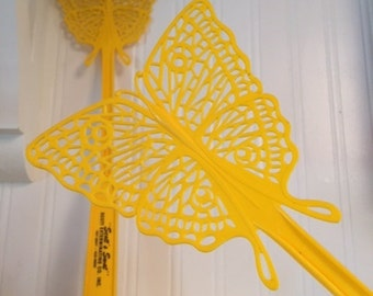 Vintage 1970s Butterfly Fly Swatter