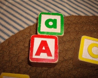 Set of 38 vintage children's blocks
