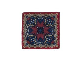 Vintage Neckerchief - Vintage Pocket Square - Silk Neckerchief - Silk Pocket Square - 80s Silk Neckerchief - 80s Silk Pocket Square - Trad