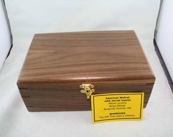American Walnut Keepsake/Jewellery/Storage Box                 No 180