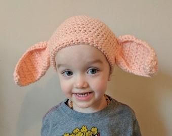 Dobby Beanie. Child Size Small Beanie. Handmade Crocheted Harry Potter Inspired Beanie. Fun Soft Ears. Crocheted hat. Fun gift.
