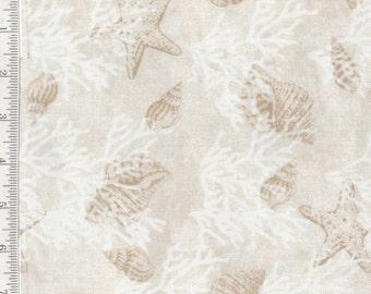 Seaside Dreams - Per Yd - Sharla Fults - Studio e - Beauty and Tranquility! Sand Tonal