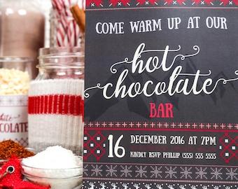 Hot Chocolate Bar Holiday Printables