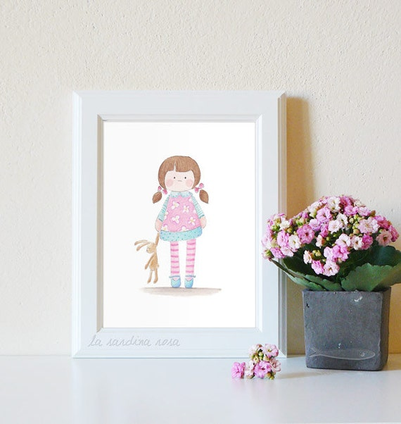 baby girl wall art nursery decor baby girl room print