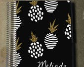 Laminated Planner Covers and Dashboards - Fancy Pineapple