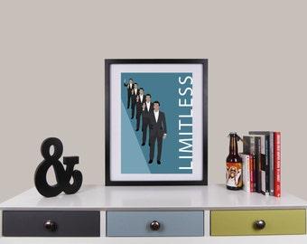 Limitless Print, Minimalist Movie Poster