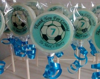 10 Football Party Favours, Football Party Favour Lollipops, Football Favours, Boys Party Favours, Football Party Bag Gifts, Image Lollies