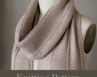 knitting pattern, knit scarf pattern, knit pattern, scarf pattern, knit scarf pattern, brioche scarf, instant download pdf DIY instructions