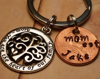 Family Tree Mothers Day Gift,Custom Penny Mother Gift,Gift for Mother,Keepsake Mothers Day Gift, New Mom,Tree of Life,Special Gift for Mom
