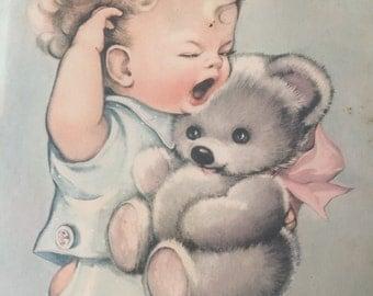 Vintage Sleepyhead Framed Print by Charlot Byj