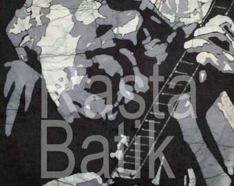 Jerry Garcia Grateful Dead 3 tone image batik.