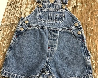 Baby Gap Overall Vintage Wash Denim Size 3-6 Months