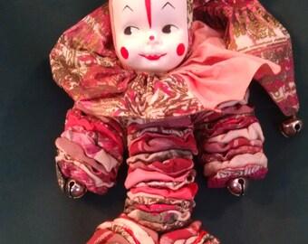 Sale vintage handmade yo yo doll, Yo yo clown, vintage doll, clown, vintage yo yo, doll collection, dolls, clowns, yo yo clown doll, yo yo