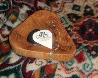 Wooden Guitar Pick Tray