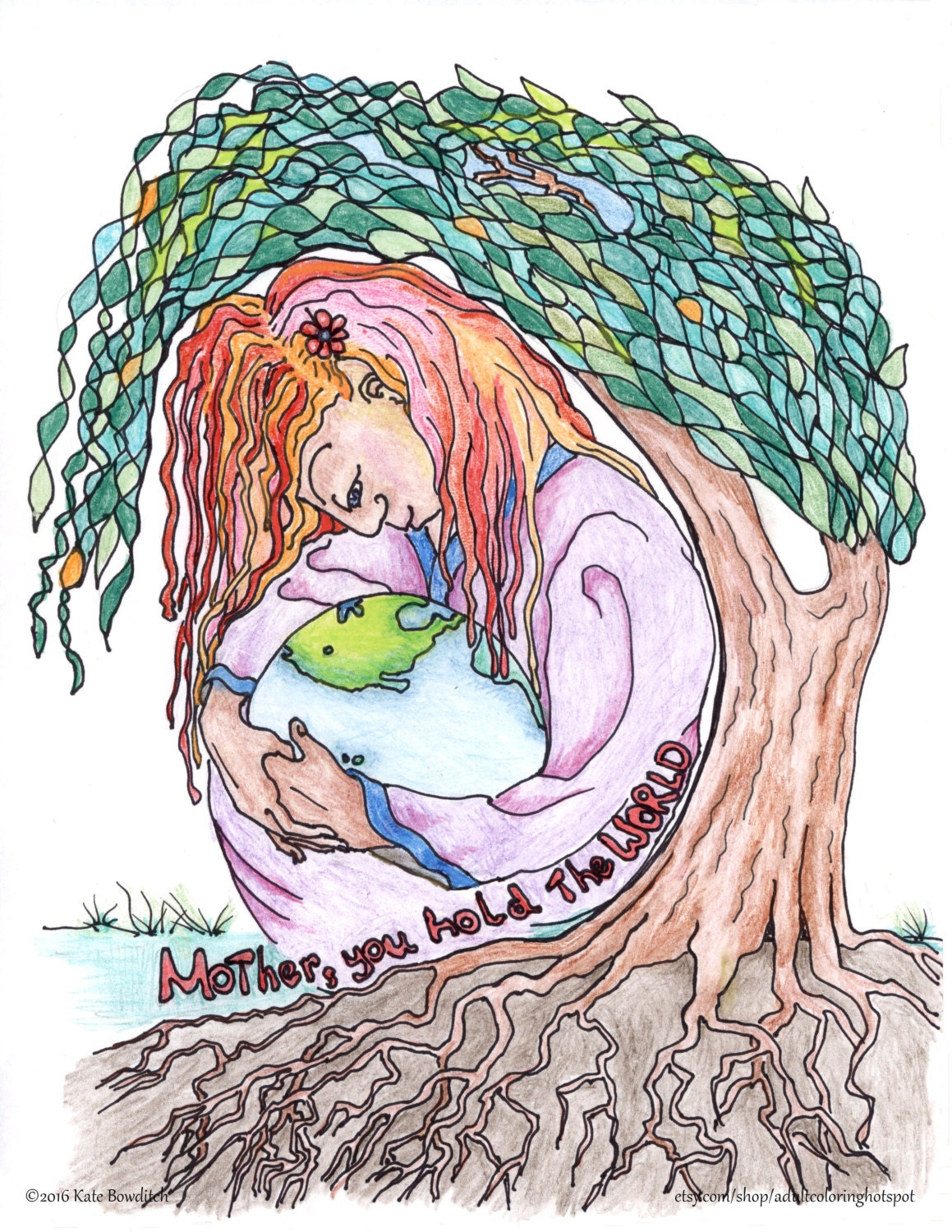 Coloring pages Mother 39 s Day Mother Nature Mother Earth